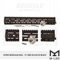 "Super Modular Rail MK4 MLOK, 15"", Black"